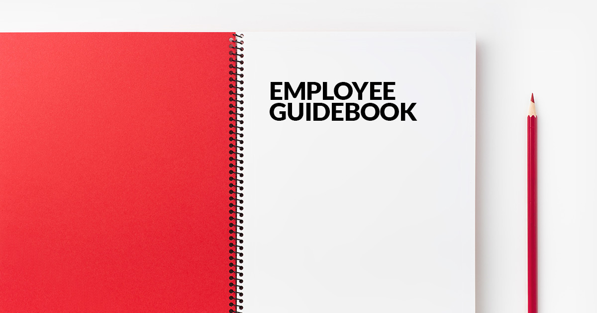 What is the purpose of the employee guidebook?
